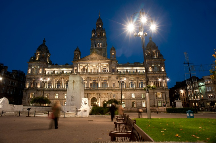 George Square, Glasgow at night